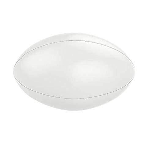 We Print Balls Ballon de Rugby Blanc uni