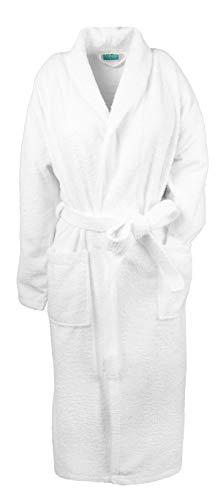 ZOLLNER Peignoir avec col châle Unisexe, Taille 6XL (Autres Tailles), Blanc, Pur Coton, série Miami