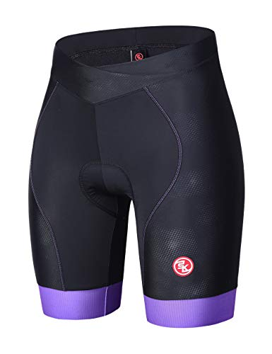 Souke Sports Short de Cyclisme 4D rembourré pour Femme XL Purple0712