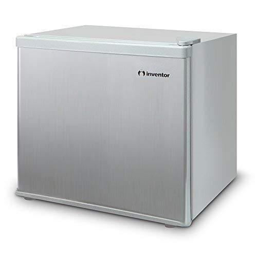 Inventor Mini-Réfrigérateur 43L, Couleur Argent, Classe Énergétique A ++, Volume de Stockage 43L, Consommation d'Énergie 84 kWh/an, Faible Niveau Sonore, Technologie Low Frost, Porte Réversible