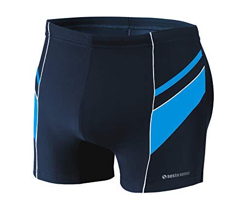 Sesto Senso Maillot de Bain Homme Boxer Trunks Shorts Pantalon (Tailles de M à 4XL) Slips Natation de Sport BD 357 (XXL, Bleu)