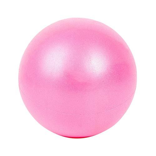 Fortitude Sports Balle de Yoga 25 cm - Mini Balle de Gymnastique pour Pilates, Yoga, Fitness, stabilité et thérapie Physique - Mini Ballon de Pilates avec Paille de gonflage - Rose