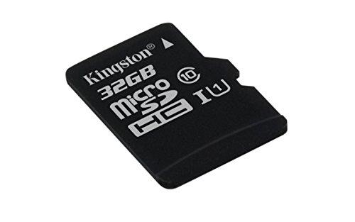 Kingston SDCS/32GBSP MicroSD Canvas Select UHS-I Classe 10 avec vitesse de lecture allant jusqu'à 80Mo/s (  carte seule ) - Donnez vie à vos vidéos HD