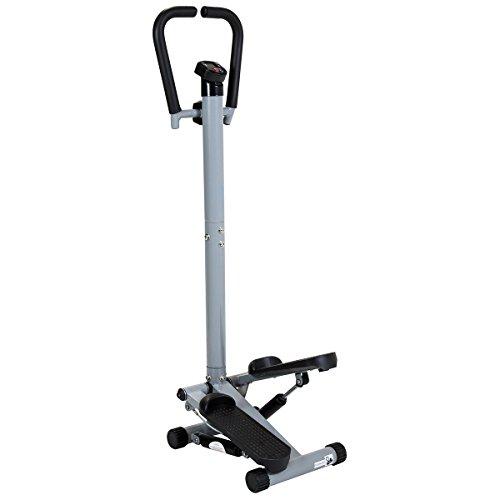 Charles Bentley Twist Fitness Stepper avec Guidon Et Ecran LCD Jambes Exercice Stepper Machine Cuisse tonifiant