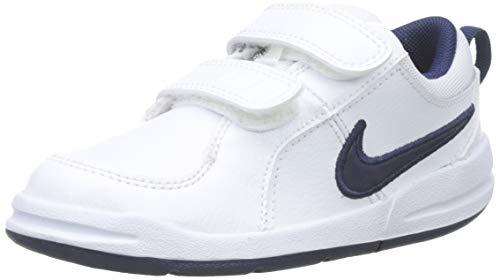 Nike Pico 4 (TDV), Baskets bébé garçon, Blanc (White/Midnight Navy 101), 27 EU