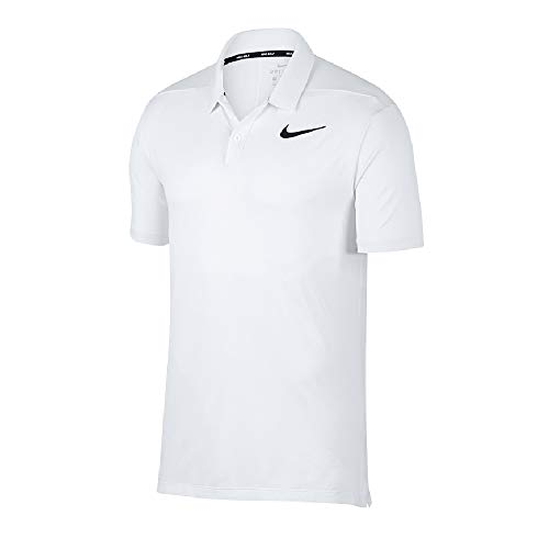 Nike - Polo - Homme (M) (Blanc/Argent)