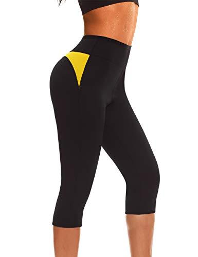 NINGMI Femmes Néoprène Sauna Minceur Legging Sudation Minceur Pantalons  pour Perte De Poids Fitness Sport Gym 8375dfc5bb8