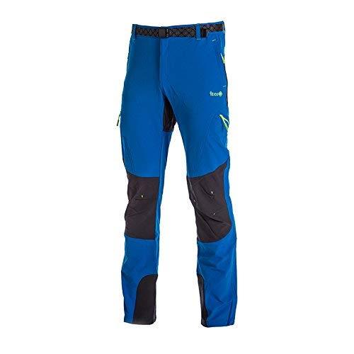 IZAS Espes Pantalon de Montagne Homme, Noir/Fumée/Citron Vert, FR (Taille Fabricant : XL)