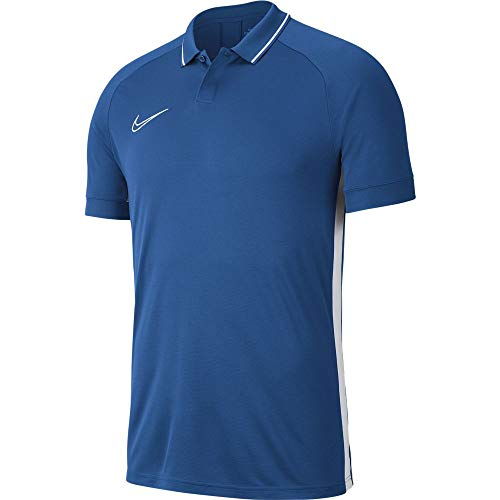 Nike Academy19 Polo Homme, Marina/Marina/White/White, FR : M (Taille Fabricant : M)