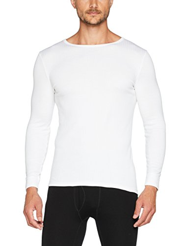 Damart Tee-shirt manches longues Thermolactyl Haut thermique Homme Blanc (Blanc) Medium (Taille fabricant: M)