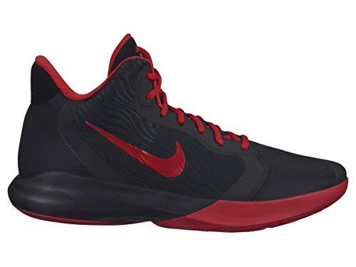 Nike Precision III, Chaussures de Basketball Homme, Noir (Black/University Red 000), 44 EU