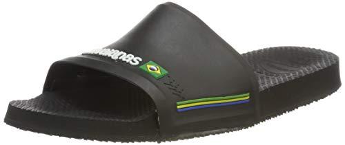 Havaianas Slide Brasil, Sandales Bout Ouvert Mixte Adulte  Noir (Black 0090) 43/44  EU