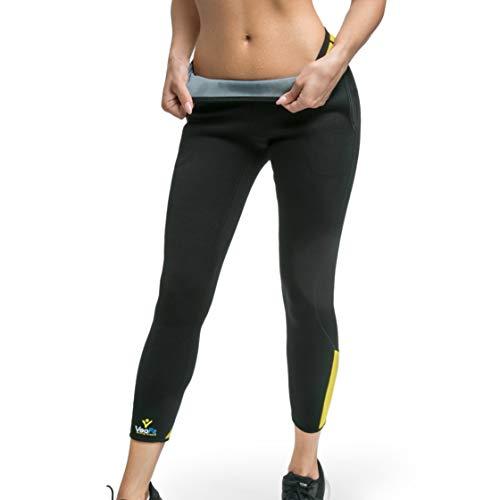 VEOFIT Pantalon de Sudation Taille XXXL pour Tonifier Ses Jambes et Obtenir Un Ventre Plat sans Cellulite : Legging à Taille Ajustable et Poche latérale, Guide Minceur et Sac à Dos Offerts
