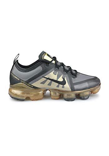 Nike Air Vapormax 2019 (GS), Chaussures d'Athlétisme garçon, Multicolore Black/Metallic Gold 004, 37.5 EU