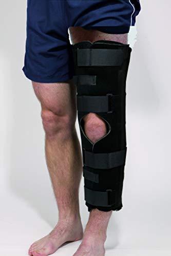 Economy Attelle d'immobilisation de genou 3 panneaux, Taille L, Genouillère robuste, appui de compression pour le genou