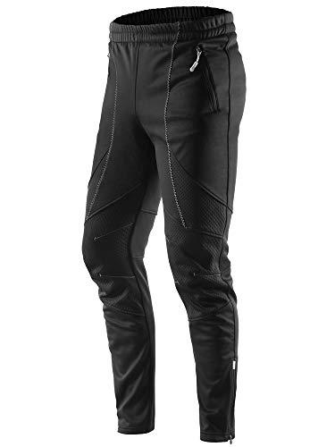 Letook Pantalon de Cyclisme d' Hiver Thermique Pantalon Vélo Coupe-Vent Sport Imperméable pour Homme 100231 L