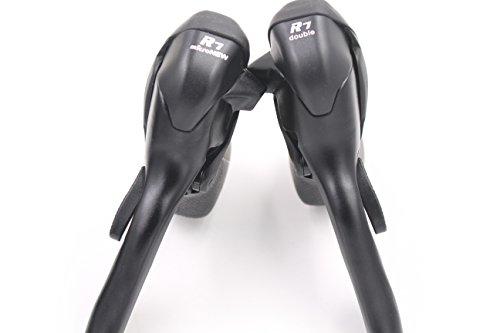Micronew double 2 x 7 vitesses pour vélo de route Dérailleur leviers de frein pour Shimano Microshift Manette