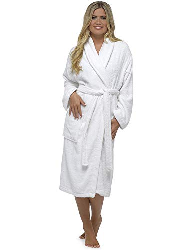 Robe De Dames Luxury Serviette Éponge 100% Coton Peignoir Robe De Chambre  Perfect Cadeau Noël c2770d9b837