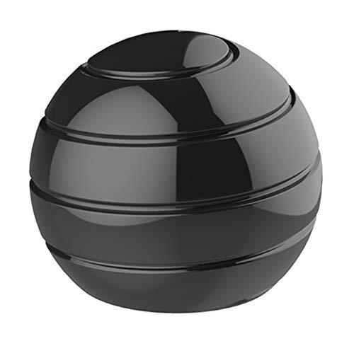 CaLeQi Bureau Cinétique Jouet Bureau Spinner Ball en Métal Gyroscope avec Illusion Optique pour Soulager Le Stress Inspirer La Créativité Intérieure (Noir)