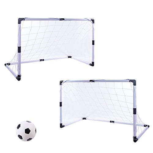 MAJOZ 2 Pièces But de Football - Soccer Cage Jouet de Football pour Enfant,92*61*48cm