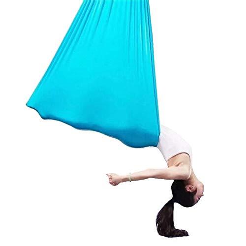 ZJY Kit aérien de hamac/élingue de Yoga, balançoire de Plafond antigravité - avec Ancres - Facile à Ranger - Tissu Durable - Convient au Gymnase en Salle