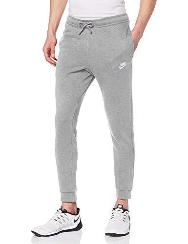 Nike M NSW Club JGGR FT Pantalon de Sport Homme, DK Grey Heather/Matte Silver/(White), FR (Taille Fabricant : XS)