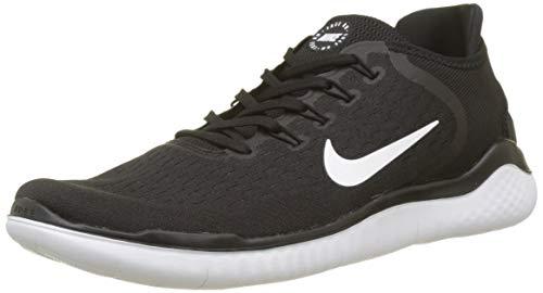 Nike Free RN 2018, Chaussures de Running Compétition Homme, Noir (Black/White 001), 48.5 EU