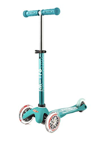 Micro Mobility - Trottinette Mini Micro Deluxe Aqua  De 2 à 5 ans - Bleu
