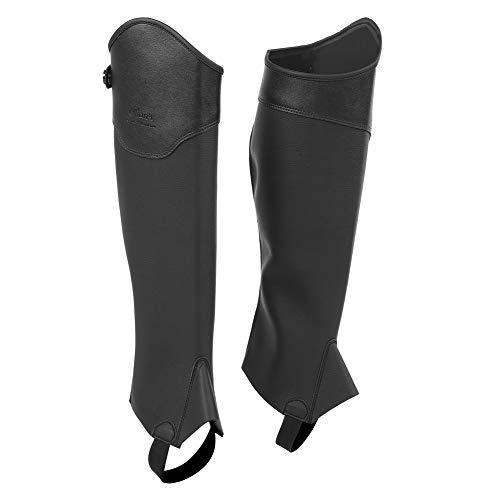 GOTOTOP Demi-Chapeau d'équitation 1 Paire de guêtres d'équitation pour Enfant 3 Tailles, Black M