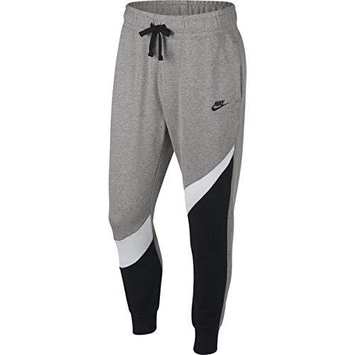 Nike M NSW HBR Pant FT STMT Un Un Pantalon Homme, Black/White/DK Grey Heather/BL, FR : M (Taille Fabricant : M)