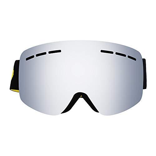 GMRZ Masques De Ski, sans Monture pour Femmes Hommes, Lunettes De Snowboard De Ski OTG avec Lunettes Anti-Buée, 100% UV,3