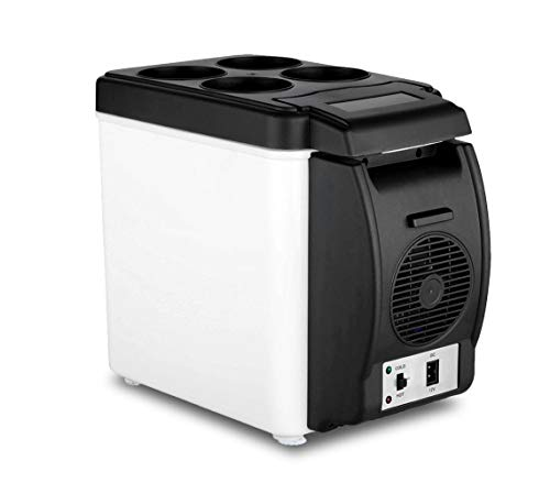 Mini réfrigérateur portable de voyage pour voiture, camping-car, fonction chaud/froid, avec câble d'alimentation inclus, capacité de 6L, 12V