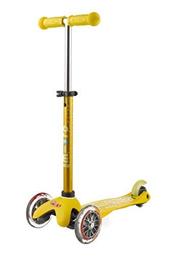 Micro Mobility - Trottinette Mini Deluxe Jaune - Trottinette Enfant au Design Original - Apprentissage de l'équilibre en Douceur - De 2 à 5 Ans - Jaune