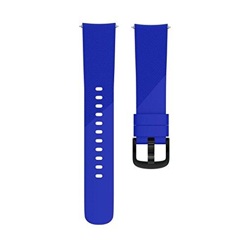 Transer Garmin Forerunner 645 Deux Modèles Bracelet, Remplacement du Bracelet de Montre en Silicone Molle Sportif et Réglable pour Garmin Forerunner 645 (Bleu, 110)