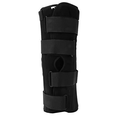 Immobilisateur d'attelle de genou Fixation de fractures et de luxations ou de blessures de ligaments aux cuisses avec fixation de 16 pouces (S)