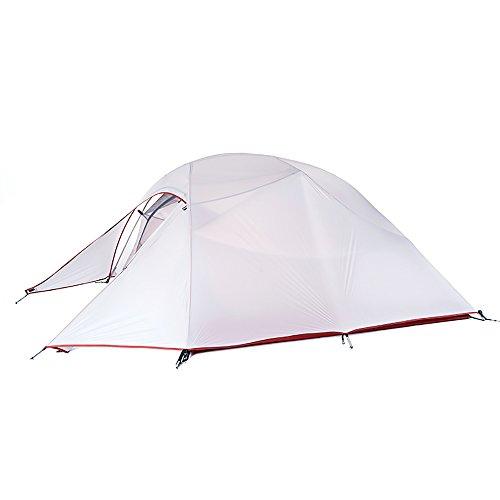 Naturehike Cloud-up Ultra légère 3 Personnes étanche Tente Double Couche Tente de Camping randonnée (20D Gris)
