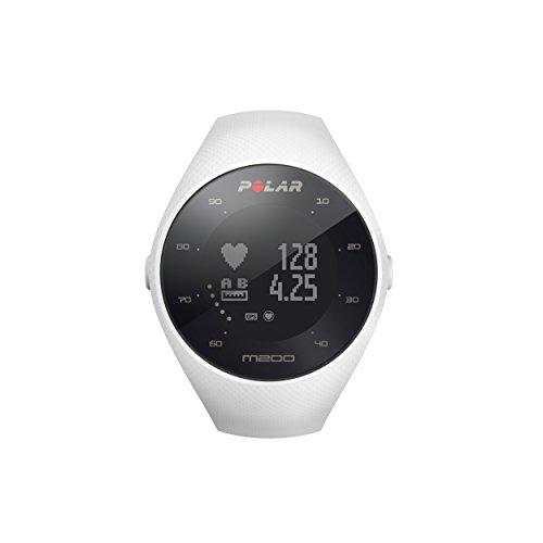 Polar - M200 - Montre Running GPS avec suivi de la Fréquence Cardiaque - Blanc - Taille M-L