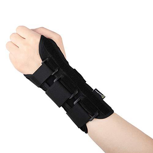 DISUPPO Attelle Médicale Poignet Orthese de Poignet pour Fractures et Entorses Supports de Poignet Soulager la Douleur Prévention des Blessures Secondaires,Attelle Poignet Sport(Gauche)