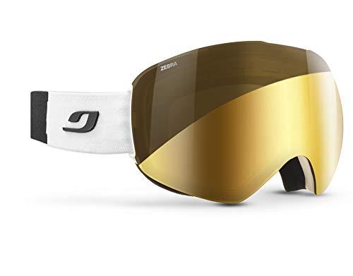 Julbo SKYDOME Masque de Ski avec écran REACTIV Photochromique Homme, Blanc/Noir, XXL