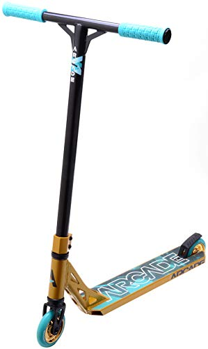 ARCADE Trottinette Freestyle Stunt Scooter (Gold/Teal)