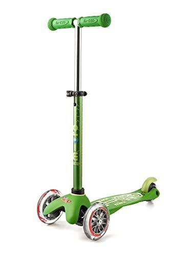 Micro Mobility - Trottinette Mini Micro Deluxe Vert - Trottinette Enfant au design original - Apprentissage de l'équilibre en douceur - De 2 à 5 ans - Vert