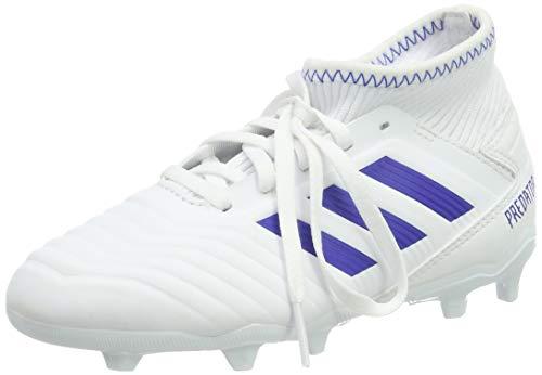adidas Predator 19.3 FG J, Chaussures de Football Mixte Enfant, Multicolore (FTW Bla/Azufue/Azufue 000), 38 EU
