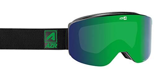 AZR - Lunettes de protection ski et snowboard GALAXY - Monture polyuréthane noire mate - Écran magnétique multicouche S3 + Écran S0 - Anti-buée - Mousse préformée OTG tri-densité - Compatibles casques