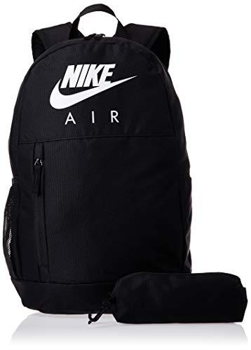Nike Y NK ELMNTL BKPK-GFX FA19 Sac à Dos de Sport Mixte Enfant, Black/Black/(White), FR Unique (Taille Fabricant : MISC)
