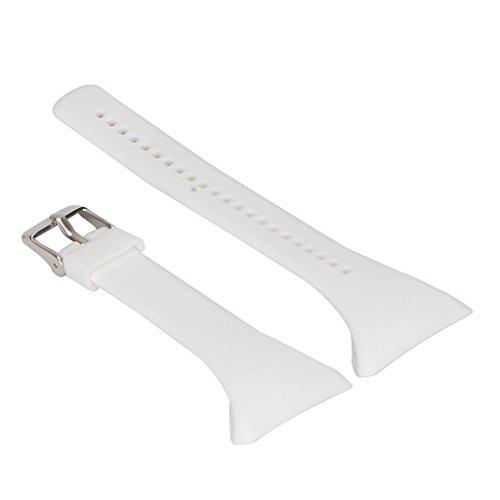 F Fityle Montre De Silicone Bracelet De Rechange De Bracelet pour FT4 Polar FT7 Ft Black Watch - Blanc