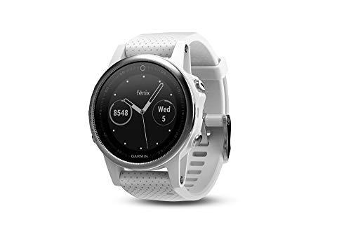 Garmin Fēnix 5S - Montre GPS Multisports Outdoor - Silver avec Bracelet Blanc Carrara (Reconditionné)