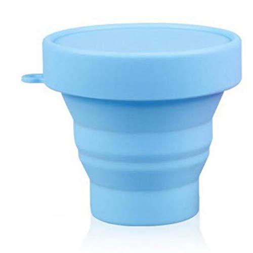 FRjasnyfall Portable Tasse en Verre télescopique Pliant Tasse Pliante Home Office Outdoor Voyage Camping 201-300 ML Capacité-Bleu