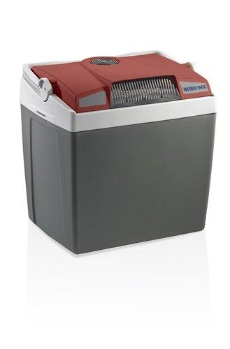 MOBICOOL G30ACDC Glacière électrique portable rouge/gris, 29L, 12/230V, 18°C en dessous de la température ambiante, p396xh445xl296mm, port USB, Norme FR, [Classe énergétique A+++]