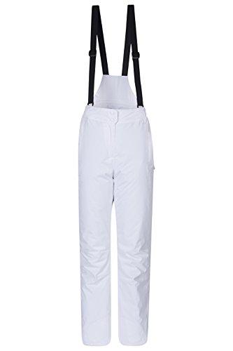 Mountain Warehouse Pantalon de Ski Femmes Moon - Déperlant, Taille réglable, Bretelles détachables, Poches - Idéal pour Le Ski Noir 38