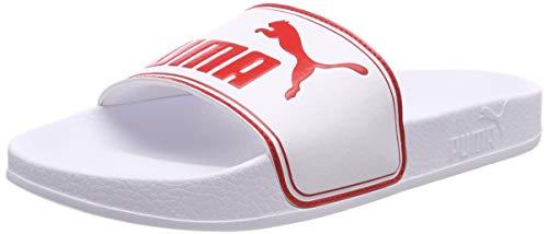 Puma Leadcat Jr, Chaussures de Plage & Piscine Mixte Enfant, Blanc White-High Risk Red, 39 EU
